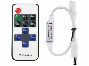 An inline dimmer is an optional piece, but useful and inexpensive.