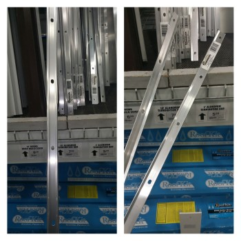 Termination Bars found in the Roofing aisle